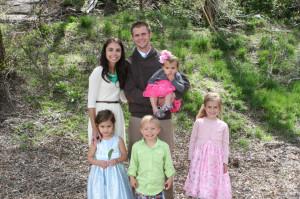 Pastor Benjamin Kirkman and his family