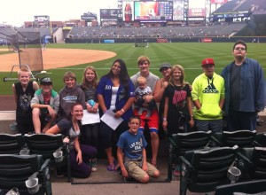 Some of the Youth at the Rockies game in October